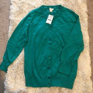 NWT the Clare cardigan from J Crew in teal